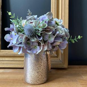 thistles & foliage 45                                         (clients vase)
