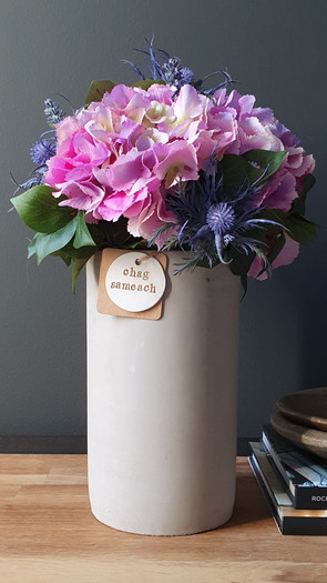 tall deep pink hydrangea (not available)