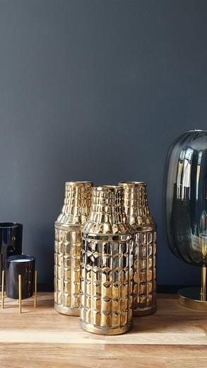 3 Egyptian Gold Vases £60