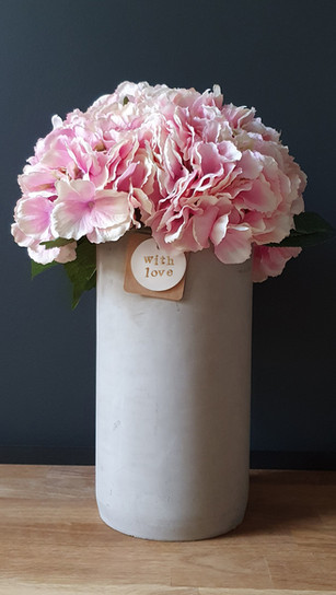 tall baby pink hydrangea (not available)