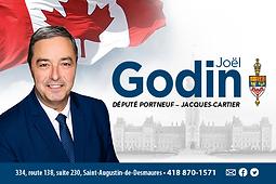 Député Joël Godin, visuel carte affaire.