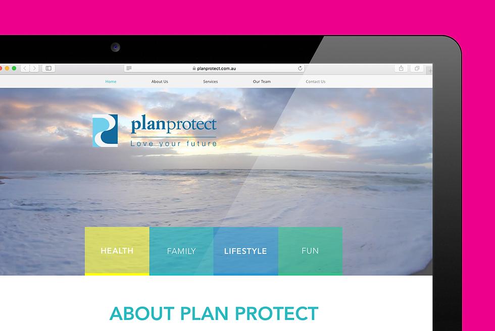 Plan Protect Website re-design zoom