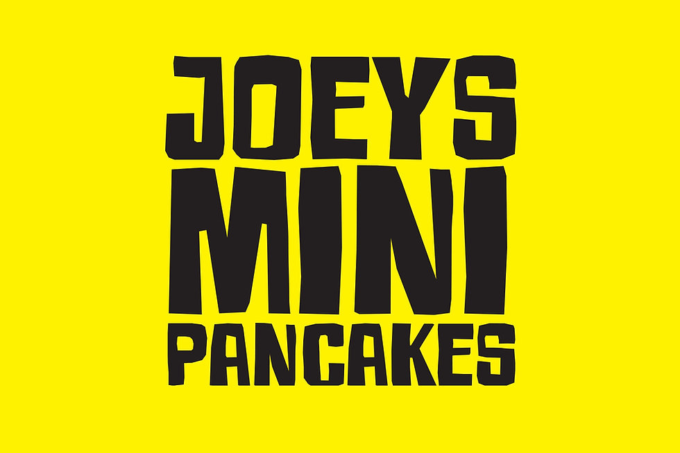 Colourblind Design Joey's Pancake truck logotype