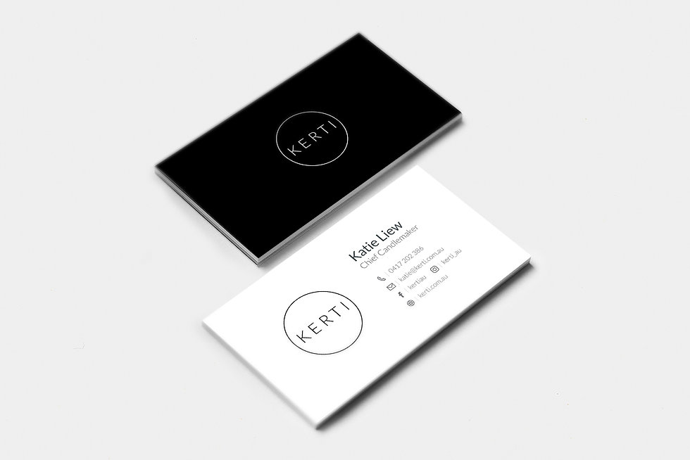 Kerti Business card branding