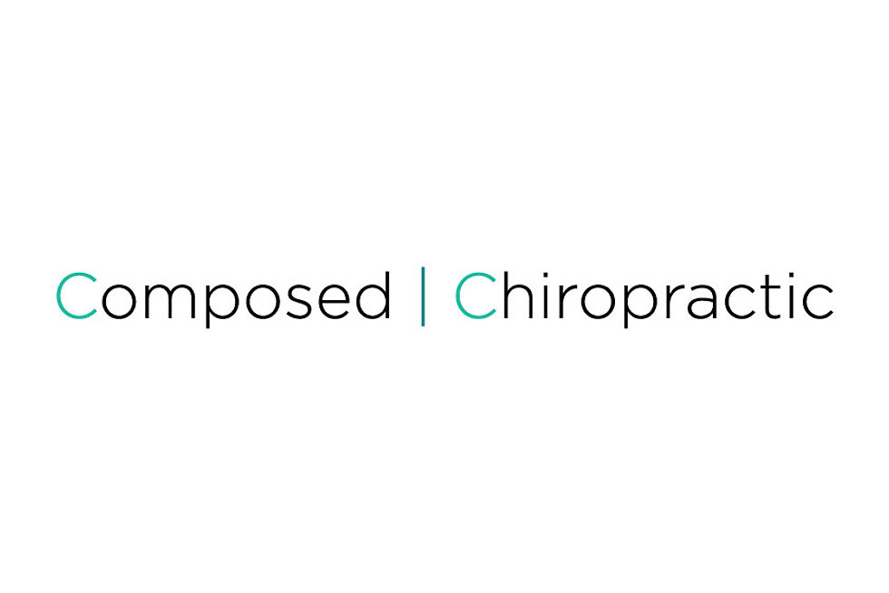Colourblind design Composed Chiropractic Logotype