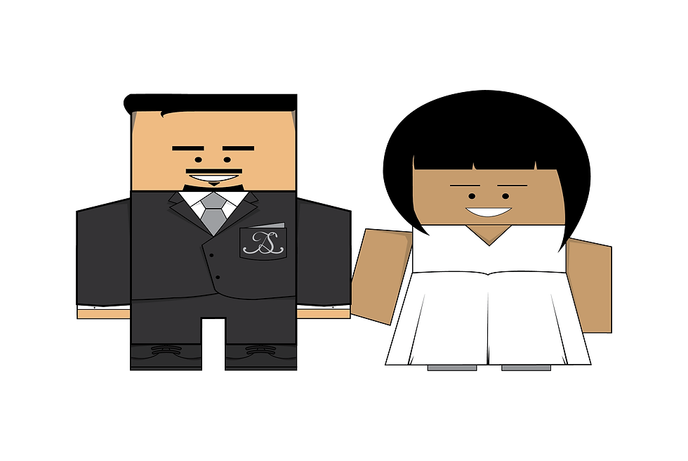 Colourblind Design Jay & Sonya Wedding Characters