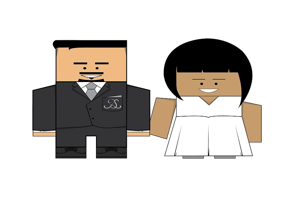Colourblind Design Jay & Sonya Wedding Characters