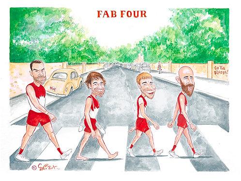 """Sydney Swans ..."""" Fab Four """" print ."""