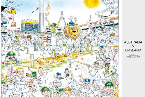 """The last Ashes at the Waca "" print"