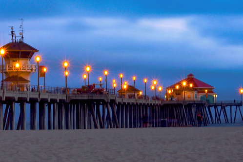 "Huntington Beach CA - Titled  ""HB Pier Lights"""