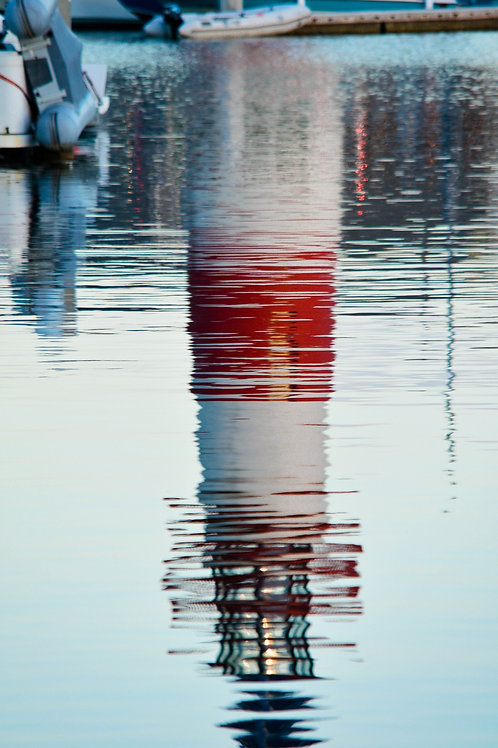 Oceanside CA Titled: The Lighthouse Reflection