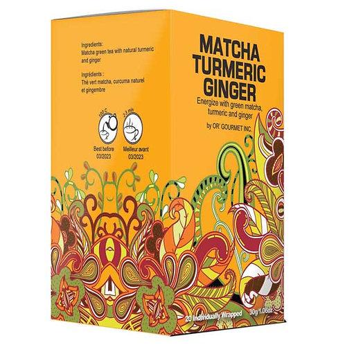 Matcha Turmeric Ginger Tea - Earth Teaze