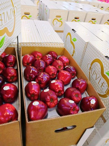 Box of Red Delicious Apples