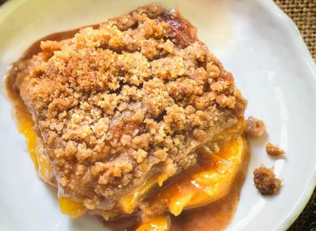 Homemade Fresh Peach Crisp