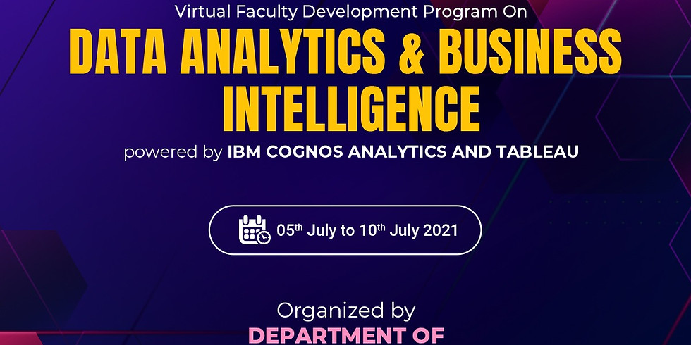 DATA ANALYTICS & BUSINESS INTELLIGENCE powered by IBM Cognos Analytics and Tableau.