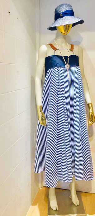 Leather Stripe Tank Dress
