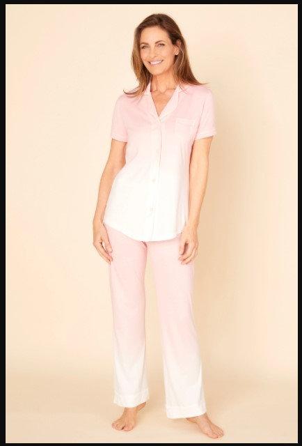 Bella Printed Short Sleeve Top & Pant Pajamas