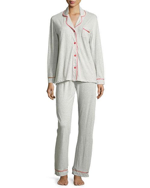 AMORS9641 Bella Stripe Long Sleeve Pant PJ Set