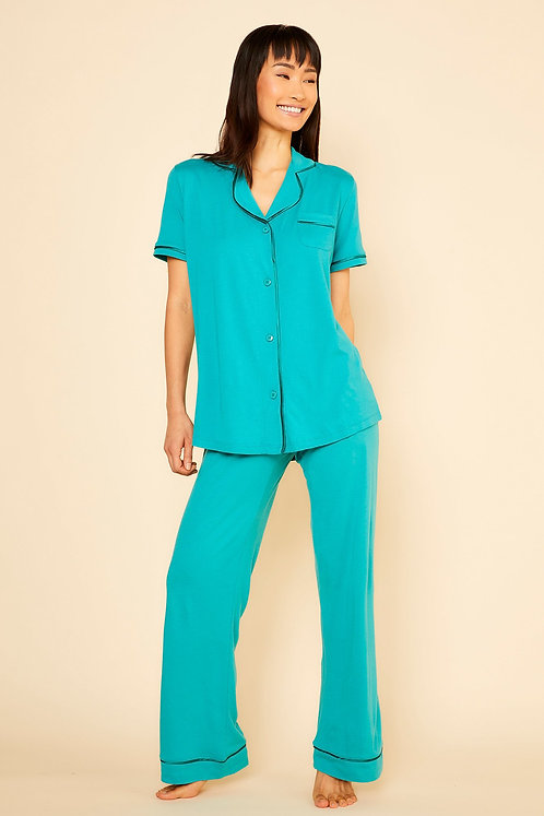 Bella Shortsleeve Top & Pant Pajama Set
