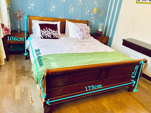 Queen Size Bed with 2 Side Table