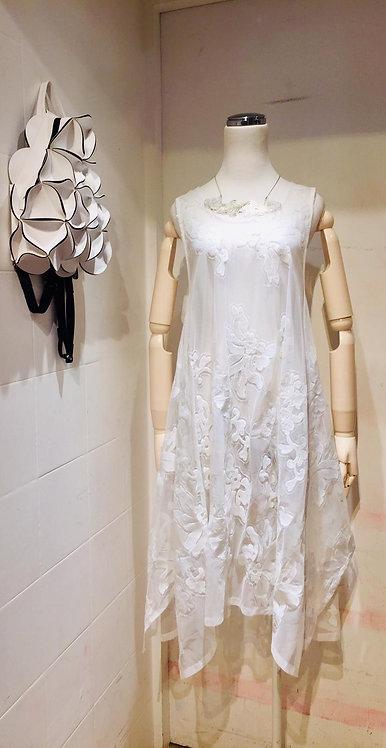Burn Out White Dress
