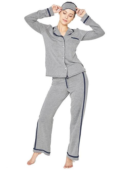 Hustle Long Sleeve & Pant PJ Set