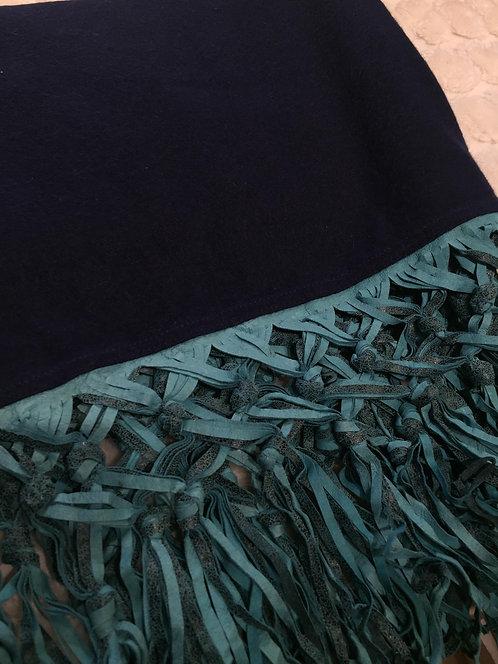 MV Cashmere Scarves w/Leather Fringe