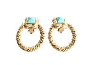 LES BERNARD Vintage Turquoise Stones Earing