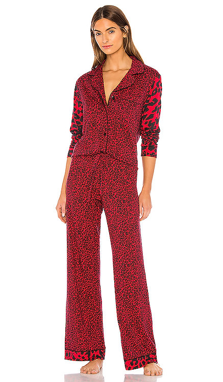 AMORP9543 Bella Printed Long Sleeve Pant PJ Set