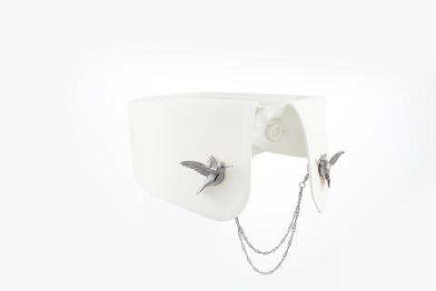 Humming Bird Clip - Black ruthenium
