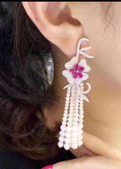 PCH Italic flower Earring