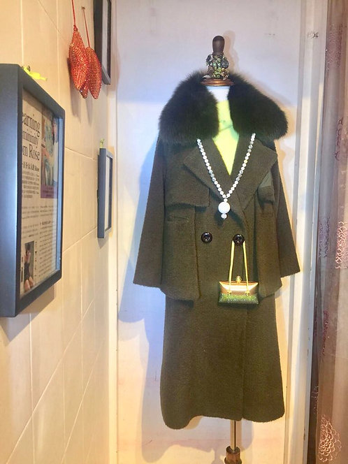Long Coat Fur Collar