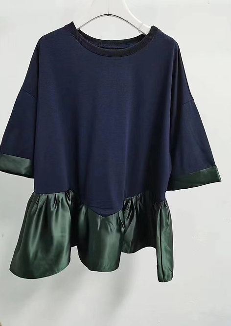 Cotton Satin Tunic Top