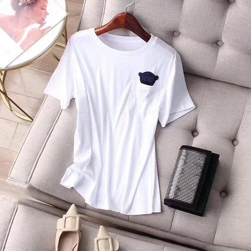 100% Cotton SS T-shirt w/ Bear