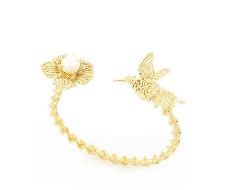 Humming Bird Bangle - Gold