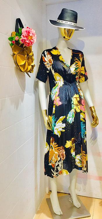 DG 100% Silk Long Dress