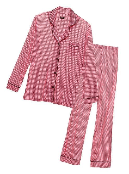 AMORP9641 Bella Printed Long Sleeve Pant PJ Set