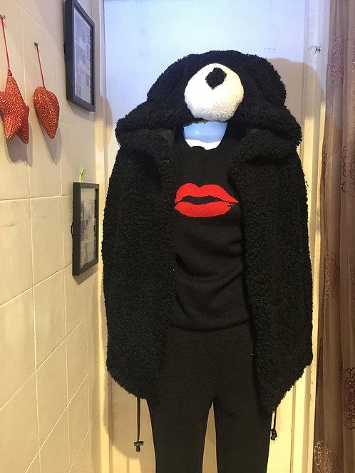 Coat w/ Bear Nose Hoodie