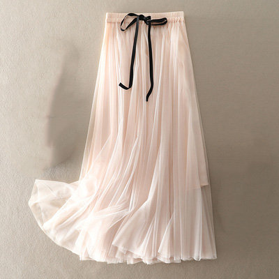 MBER-Tutu Skirt with Bow Tie
