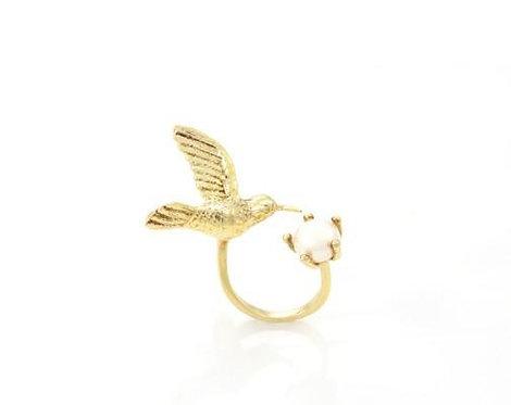 Humming Bird Ring - Gold