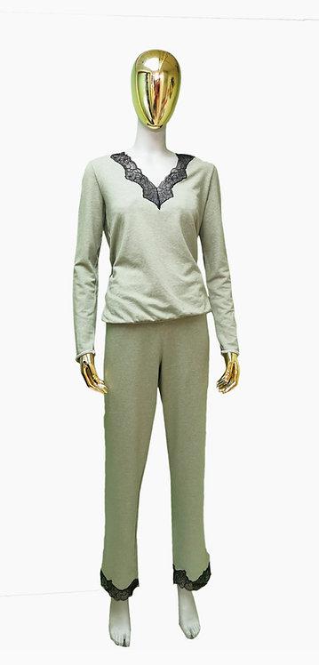 Bardot Long Sleeve & Pant PJ Set