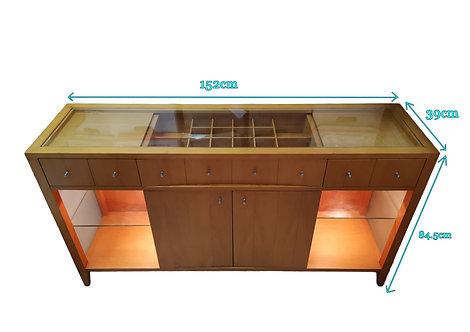 Cherry Wood Sideboard display Cabinet