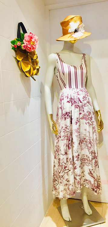 Stripe Cotton Print Dress