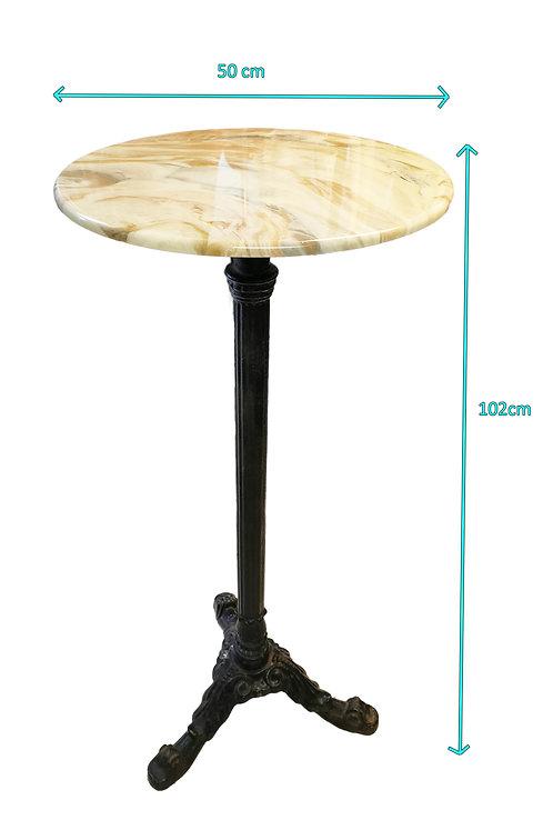 Pedestal Marble- Iron Metal Display Stand