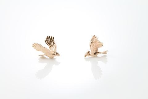 Cockatoo Earrings - Pink Gold