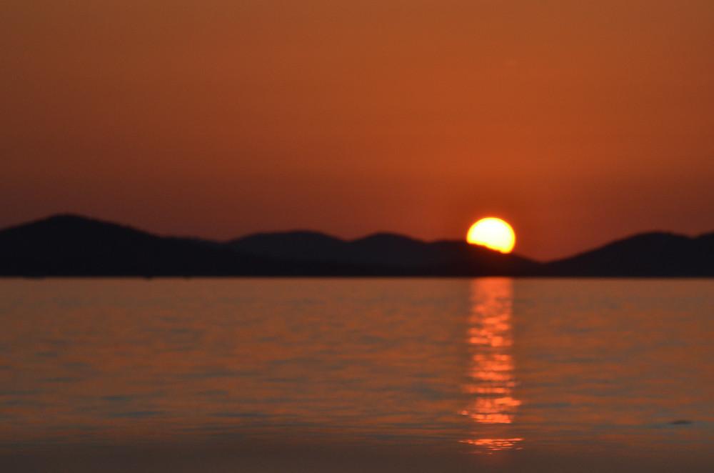 Pohoda a relax při západu slunce