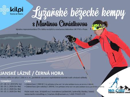 Kilpi lyžařské běžecké kempy 2019/20 klepou na dveře!