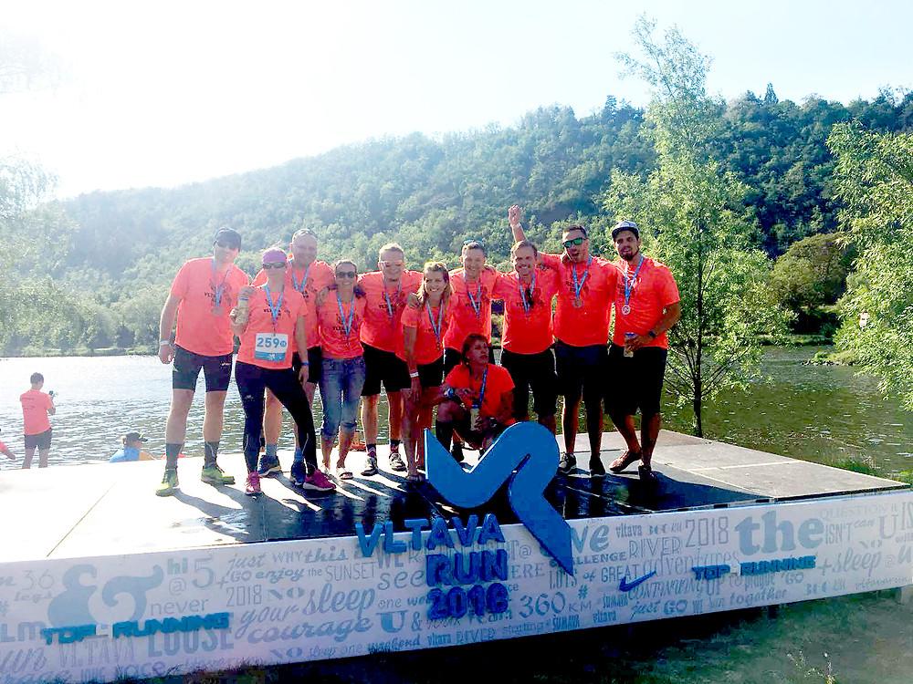 V cíli Vltava Run 2019