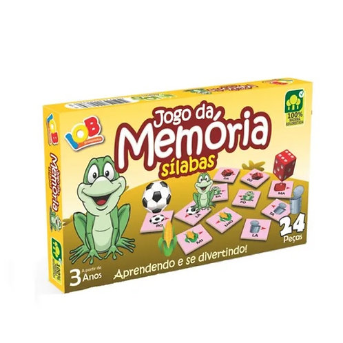 Jogo Da Memória Sílabas (jogo Educativo) - Iob Artepinus