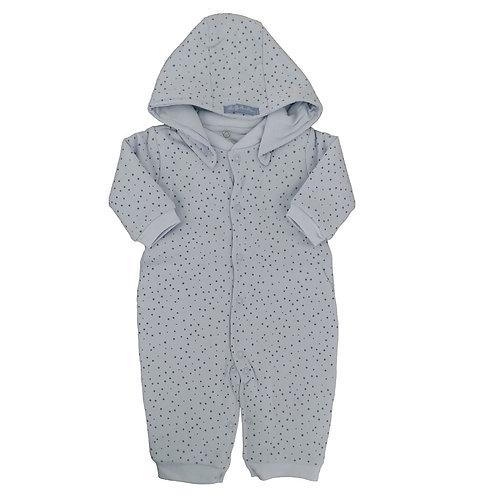 Pijama Macacão Bebê Matelasse Estrela - Baby Fashion - Azul